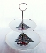 Mount Clemens Pottery Christmas Tree Double Tier Server