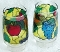 Libbey Stained Glass Fruit Tall Tumblers