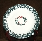 Tienshan Folkcraft Holiday Pines Wreath Dessert Plates