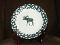 Tienshan Folkcraft Holiday Pines Moose Dessert Plates