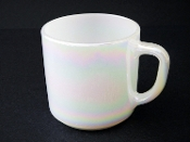 Federal Glass Moonglow Pearl Iridescent Mugs