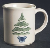 Pfaltzgraff Nordic Christmas Tree Mugs