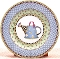 Debbie Mumm Sakura Watering Can Two Dessert Plates
