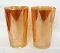 Jeannette Glass 1930's Hex Optic Iridescent Glass Tumblers