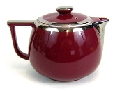 Hall's Superior Quality Maroon & Silver Large Teapot