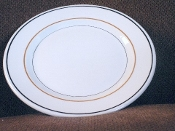 Albert Pick Liberty Black Orange Stripe Restaurant Dinner Plates