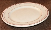 Carr China Restaurant Glo Tan St Louis Red  Dinner Plates