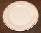 Wellsville Restaurant San Tan Red  Stripe Dinner Plates