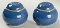 Noritake Stoneware Madera Blue Salt Pepper Shaker Set