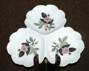 Wedgwood Hathaway Rose Clover Leaf  Relish Tray