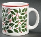 Waechtersbach Christmas Holly & Berry Mugs
