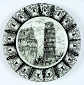 PTS Interiors Slice of Life Leaning Tower of Pisa Dinner Plates