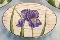 Warren Kimble Sakura Birchwood Purple Iris Dessert Plates