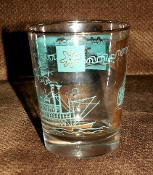 Libbey Southern Comfort Showboat Fourteen Ounce Tumbler Set