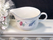 Lenox Chinastone Poppies On Blue Gravy Boat