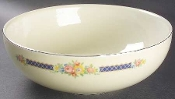 Hall China Blue Bouquet Salad Serving Bowl