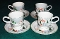 Sango Silent Night Joan Luntz Footed Cup Saucer Sets