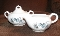 Harker Whitechapel Thermoware Pinecone Creamer & Sugar Bowl