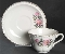 Harker Pottery Wild Rose Cup & Saucer Sets