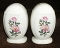 Harker Pottery Wild Rose Tall Salt Pepper Shaker Sets