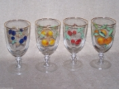 Royal Worcester Evesham Gold Cherry Footed Goblets