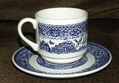 Royal China Company Willow Blue Cup Saucer Sets