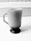 Fire King Footed Ombre Gray Black Mug