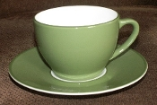 Williams Sonoma Passano Green Cup & Saucer Sets