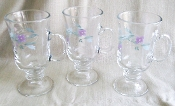 Pfaltzgraff April Glassware Irish Coffee Mugs