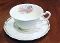 Steubenville Pottery Adam Antique Floral Cup Saucer Sets