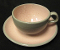 Harkerware Shell Pink Gray Stoneware Cup & Saucer Sets