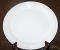 Nikko Colorstone Ivory Ribbed Dinner Plates