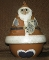 Louisville Stoneware Santa Cookie Candy Jar With Poachers Bell