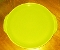 Universal Potteries Ballerina Chartreuse Handled Cake Plate
