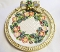 Fitz & Floyd Christmas Wreath Accent Sculpted Canape Plate