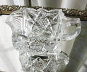EAPG US Glass Illinois Clarissa Star of the East Square Creamer