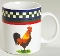International China Timberlake Ella's Rooster Mugs