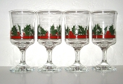 Libbey Holly & Berries Water Goblets