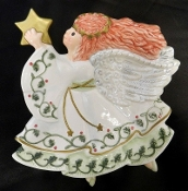 Fitz & Floyd Moon Beams Angel Canape Plate