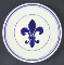 Williams Sonoma Fleur De Lys Blue Luncheon Plates