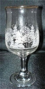 Libbey Frosty Pines Tulip Wine Goblets