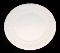 Furio Home White Stoneware Dinner Plate