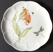 Lenox Butterfly Meadow Dragon Fly Luncheon Plates