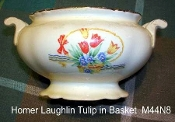 Homer Laughlin Virginia Rose Tulips In A Basket Creamer