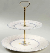 Nikko Blue Peony Tiered Serving Tray