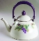 Pfaltzgraff Jamberry Metal Enamel Tea Kettle