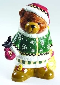 Debbie Mumm Sakura Christmas Bears Cookie Jar