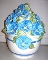 Certified International Blue Morning Glory Cookie Jar