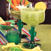 Libbey Green Cactus Margarita Glass Set