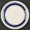 Tienshan Folkcraft Blue Stripe Country Crock Dinner Plates